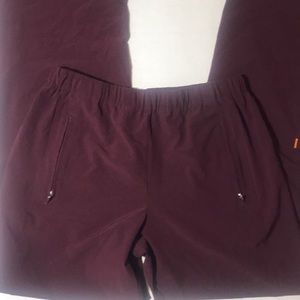 Lucy Straight Leg Zipper Ankle/Pocket Maroon Pants